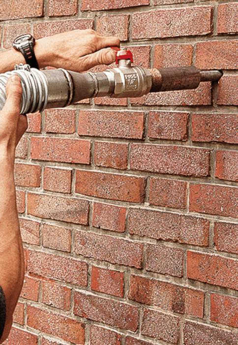 Isolation des murs creux par insufflation : méthode