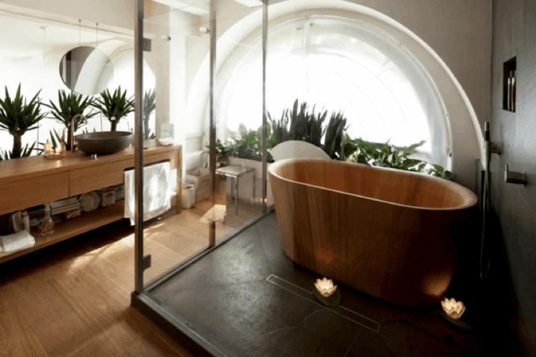 Style de salle de bain : exotique