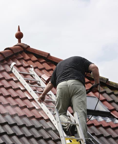 Démoussage de toiture: le traitement anti-mousse