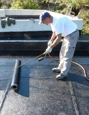 EPDM plat dak herstellen