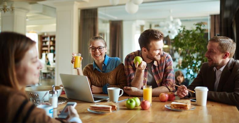 Voordelen vers fruit op het werk