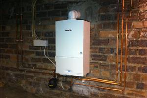 gasleiding condensatieketel