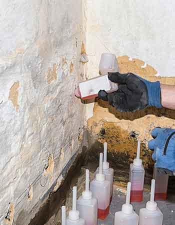 Injection dans les murs: analyse