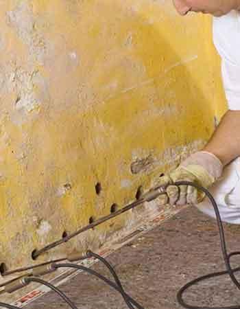 Injection dans les murs