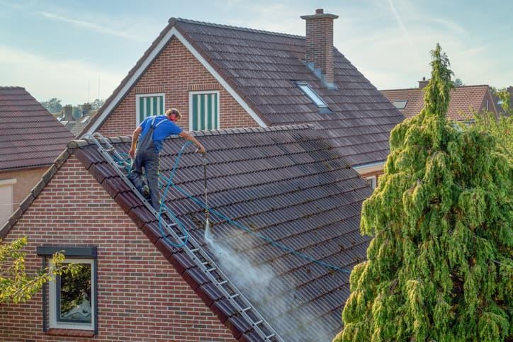 nettoyage de la toiture