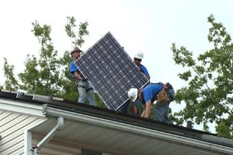 Pannneaux solaires : lieu d'installation