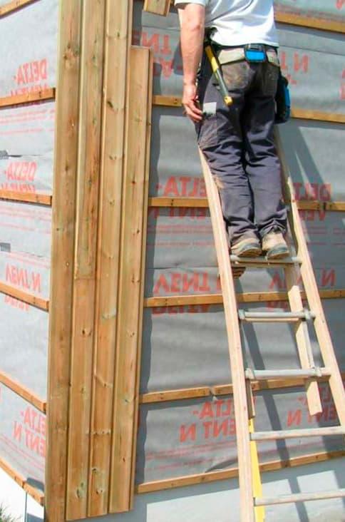 Revêtement de façade: prix du bardage de bois